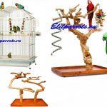 Эксклюзивные клетки,насесты для попугаев - производство Чехия