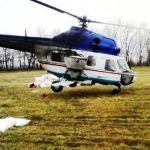 Вертолет для внесения селитры на рапс