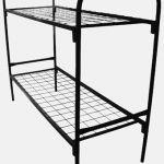 Кровать металлическая двухъярусная для рабочих