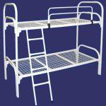 Двухъярусные железные кровати, для казарм, металлические кровати для интернатов, школ оптом.