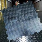 Напольное покрытие из резиновых модулей Double rubber для мастерских и боксов