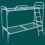 Одноярусные кровати металлические для гостиниц, интернатов