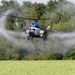 Внесение хелатных микроудобрений вертолетами