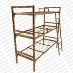 Трехъярусные металлические кровати для рабочих, кровати для обще