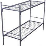 Кровати металлические двухъярусные для казарм, кровати трёхъярусные для строителей оптовые цены