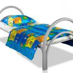 Односпальные кровати металлические одноярусные для студенческих общежитий, пансионатов